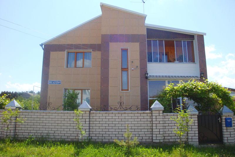 Отделка фасада дома из пеноблока
